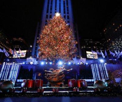 Nueva York encendió su emblemático árbol de navidad