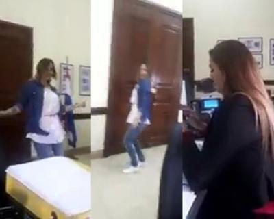 """Vídeo de supuesta funcionario bailando en el """"BNF"""" se hace viral"""