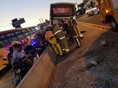 Heridos tras choque en San Lorenzo