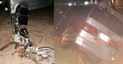 Conductor mata a motociclista y se da a la fuga