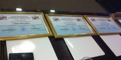 Entregaron reconocimiento a jugadores de handball