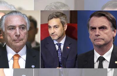 Abdo Benítez, Temer y Bolsonaro se reunirían antes de fin de año