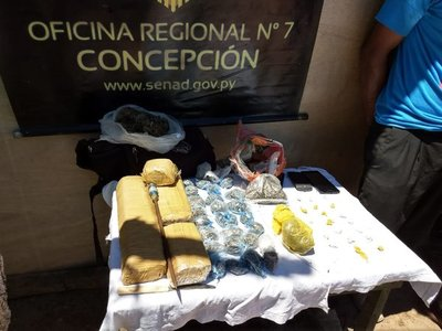 Senad detiene a microtraficante de drogas en Concepción