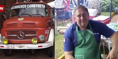 BOMBEROS DE CAMBYRETÁ DE LUTO TRAS TRÁGICA MUERTE DE SU VICEPRESIDENTE.