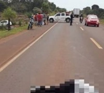 Motociclista fallece tras embestir a promesero de Caacupé