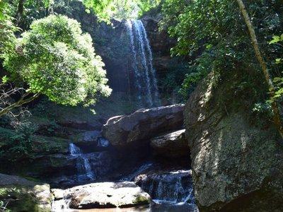 Salto Cantera, atractiva maravilla natural en medio del Ybytyruzú