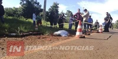 FATAL ACCIDENTE SOBRE LA RUTA 14-18 A LA ALTURA DE EDELIRA KM 20.