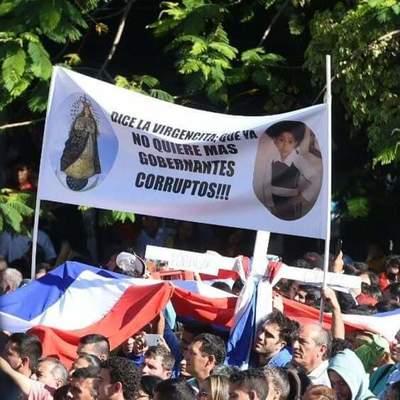 Feligreses también pidieron fin de la corrupción