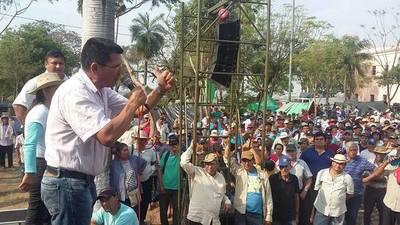 Campesinos marchan en Día de los Derechos Humanos