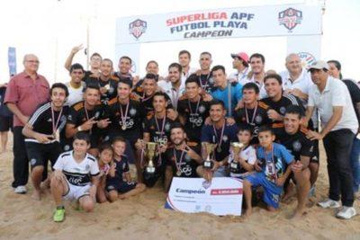 Olimpia Bicampeón en fútbol de playa