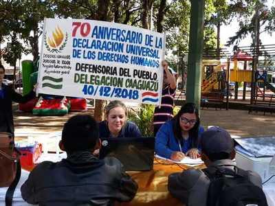 """Recordaron """"Declaración de los Derechos Humanos"""" asistiendo a caaguaceños – Prensa 5"""