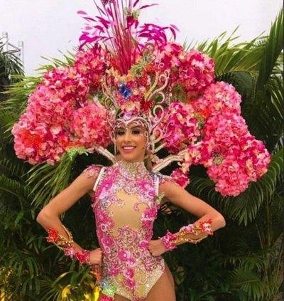 """Miss Paraguay se lució como """"árbol de lapacho"""""""