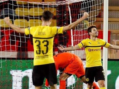 El Dortmund gana al Mónaco y se adueña del primer puesto del grupo A