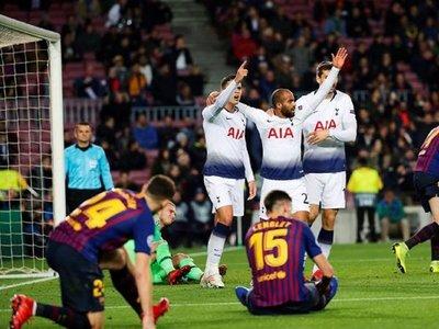 Lucas Moura clasifica al Tottenham en el Camp Nou a 5 minutos del final