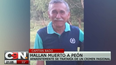 Revelan motivo de crimen de peón en Capitán Bado