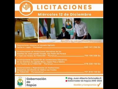 INSTITUCIONES EDUCATIVAS SERÁN REPARADAS