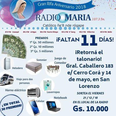 Radio María de aniversario