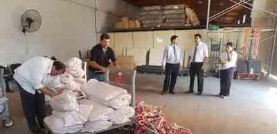 Fiscalía destruyó productos falsificados