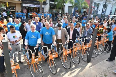 Asunción lanza red de bicicletas de uso público