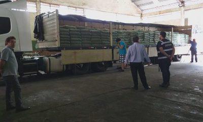 Retienen cargamento de 33 mil kilos de cemento que habría ingresado al país de contrabando