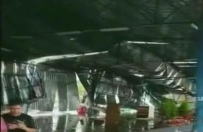 La tormenta de ayer también causó destrozos en Foz de Iguazú