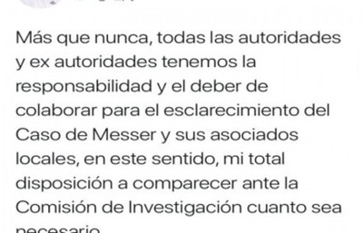 Caso Messer: Fernando Lugo se pone a disposición de la comisión bicameral