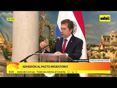 Luis Castiglioni sobre la adhesión al pacto migratorio