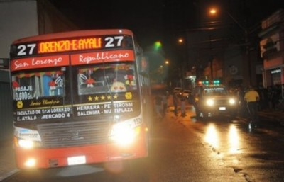 Buses nocturnos en Asunción