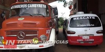 BOMBEROS DE CAMBYRETA ANUNCIAN COLECTA SOLIDARIA PARA ESTE SÁBADO