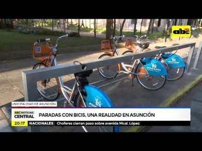Paradas con bicis, una realidad en Asunción