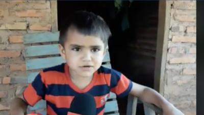 HOY / Humilde niño horqueteño conmueve con poema en guaraní para su maestra