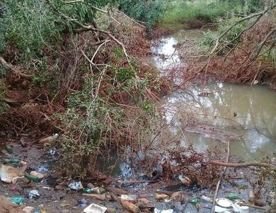 Denuncian que moradores contaminan arroyo Amambay