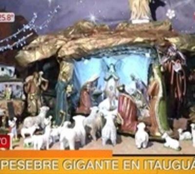 Imponente pesebre en Itauguá