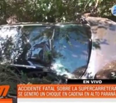 Alta velocidad e imprudencia ocasionan fatal accidente en Alto Paraná