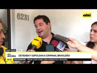 Detienen y expulsan a criminal brasileño