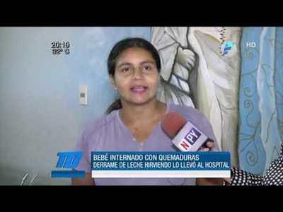 Leche hirviendo daña a bebé en Alto Paraná