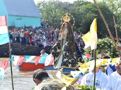 La Virgen del Paso recibe a miles de promeseros en Guairá