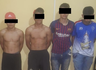 Piden prisión para cuatro presuntos motoasaltantes
