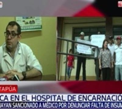 Director niega sanción contra médico que denunció falencias