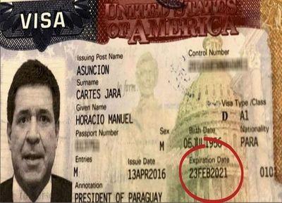 La visa de Cartes para EEUU excede mandato presidencial