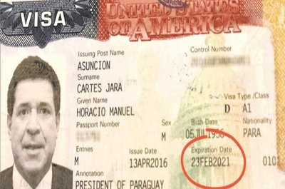 Cartes tiene visa válida, según excanciller