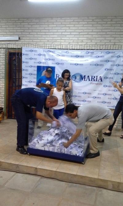 Radio María realizó su sorteo de rifa anual