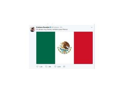 Cristiano, Neymar y Suárez mandan apoyo para México