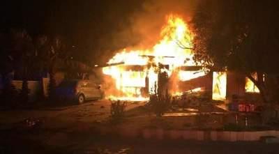 Hombre incendió vivienda y mató a su hija