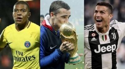 HOY / Cristiano, Griezmann y Mbappe, candidatos a Mejor Jugador en los Globe Soccer