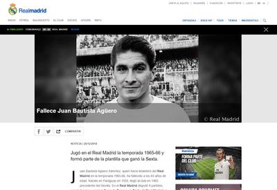 El Real Madrid recordó a Juan Bautista Agüero