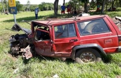 Accidente deja un muerto y varios heridos en Caacupé