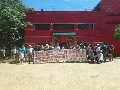 Vecinos de Maciel piden justicia por asesinato de concejal