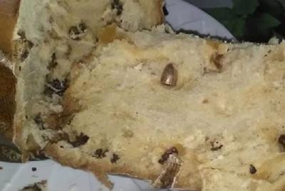Bala perdida quedó dentro de pan dulce durante cena de fin de año