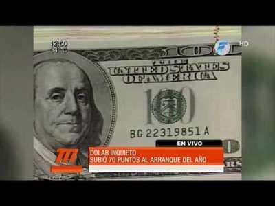 El dólar preocupa: solo en el inicio del año subió 70 puntos